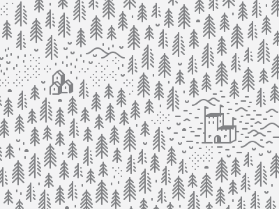 Mysterious Forest — Part II line art mysterious medieval house line minimalism icon forest