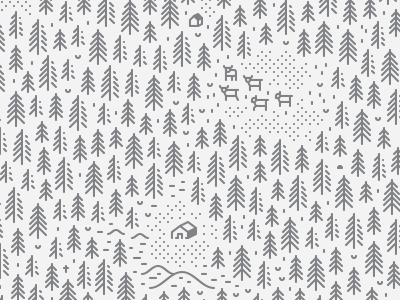 Mysterious Forest — Part III line art mysterious medieval house line minimalism icon forest
