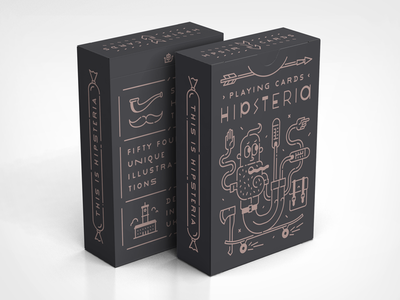 Hipsteria Chocy playing cards line icon hipsteria hipster card deck