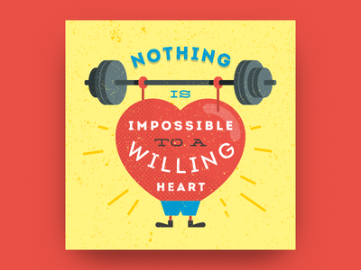 Nothing is impossible to a willing heart impossible will heart aphorism quote poster motivation