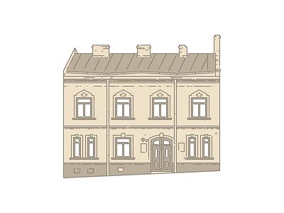 Lviv Houses — 7 Nizhynska St illustration icon architecture building house lviv