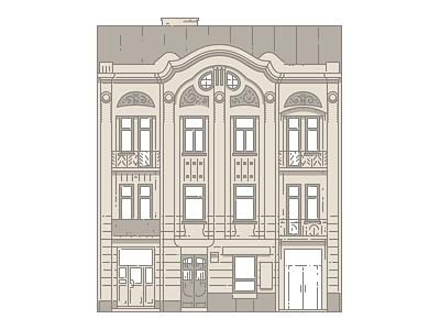 Lviv Houses — 31 Bandery St illustration icon architecture building house lviv