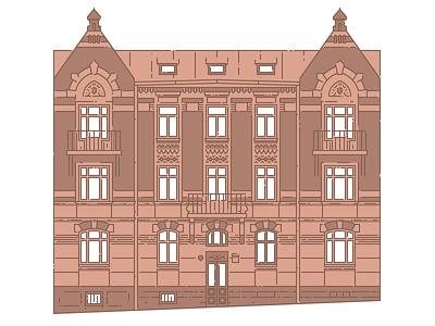 Lviv Houses — 3 Arkhitektorska St lviv house building architecture icon illustration