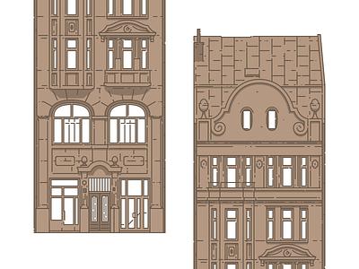 Lviv Houses — 4 Kniazia Romana St lviv house building architecture icon illustration