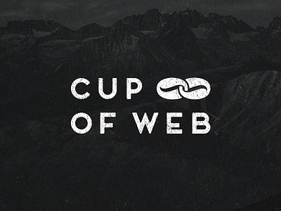 Cup of Web bean coffee logo studio web cup