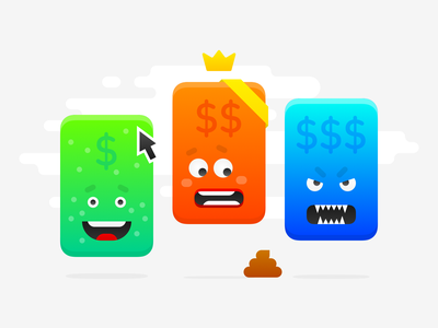 Pricing pages: illustration funny character funny illustration illustration icon design dollar sign money poo art funny cute icon product design web design ui cards pricing plan pricing page pricing