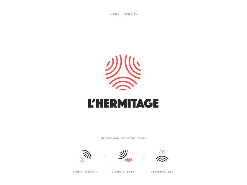 L'HERMITAGE / Logo Construction