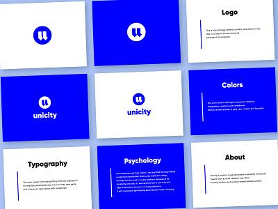unicity logo presentation social media logo clean logo simple logo brand identity identity branding logo design logodesign minimal minimal logo blue design blue blue logo logo presentation presentation logo