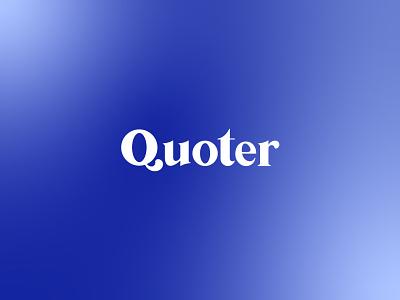 Quoter logo minimal logo design minimalism minimal design identity branding design graphic design minimal design reading app logo blue logo minimal logo simple logo lettermark logo design logodesign brand identity branding logotype typography logo