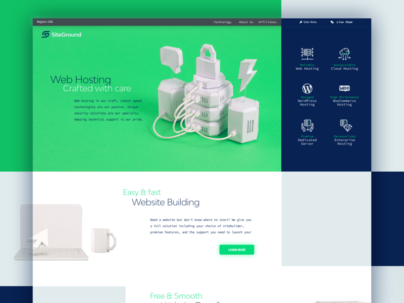 Craft for SiteGround branding logo web hosting paper sculpture paper craft ui