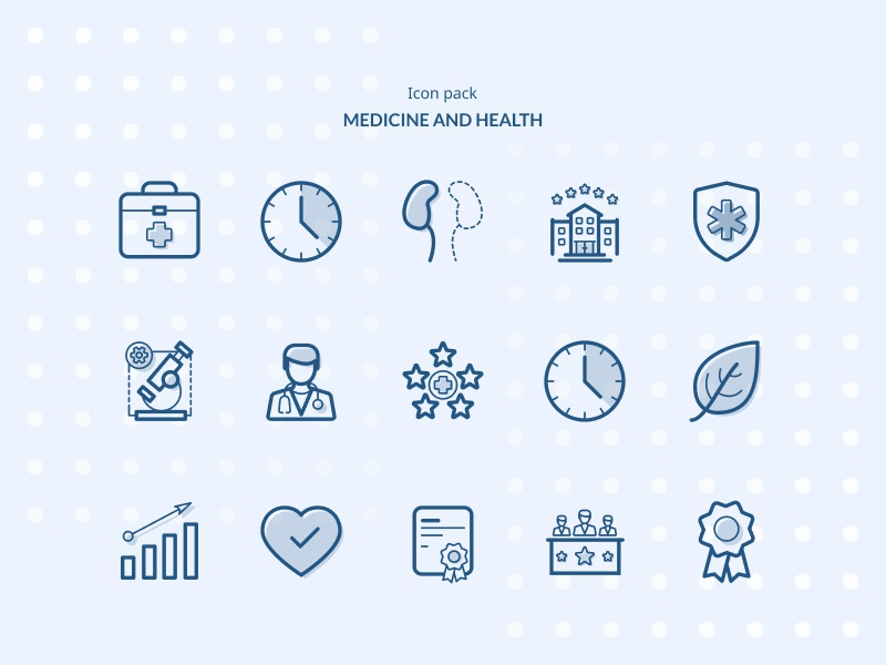 Medicine and Health Icon Pack branding ui figma iconset ambulance service pharmacy doctor medicine illustation icons icon hospital graphic design aid