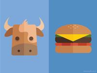 Cow \ Hamburger