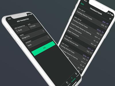 Redesign Process Video – SpendWeek bai jamjuree iphone ios process dark mode dark