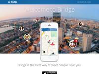 Bridge App landing page