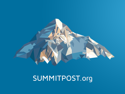 SummitPost logo redesign mountain logo poly low-poly outdoors