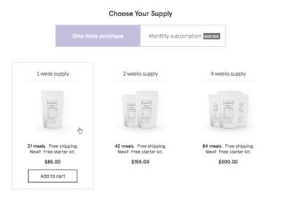 Choose Your Supply apercu ecommerce soylent