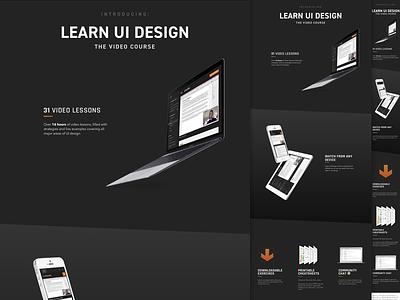 """Introducing"" section - Learn UI Design rajdhani avenir din mockups course"