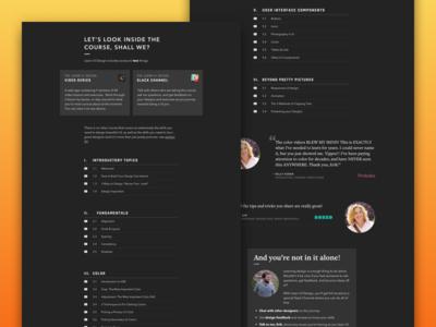 """Curriculum"" - Learn UI Design rajdhani avenir curriculum course"