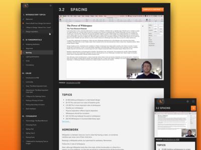 Course App - Learn UI Design avenir rajdhani responsive education video course