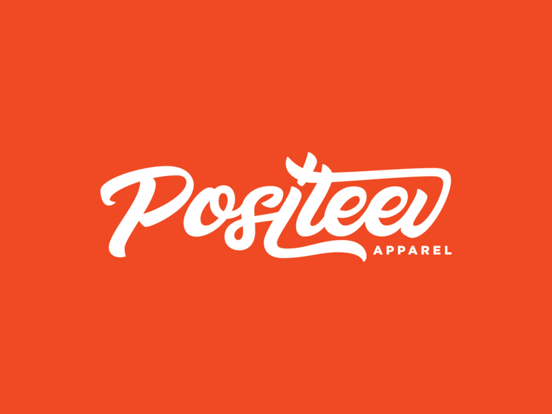 Positeev Logo tee shirt tshirt positive vibes positive logo type logotype logo design logo design lettering artist lettering art lettering