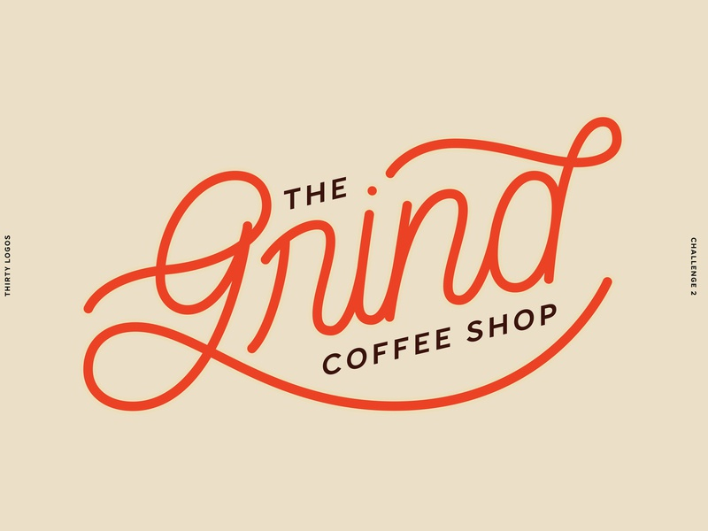 Thirty Logos - Challenge 2 coffee shop coffee thirty day logo challenge thirty day logos thirtydaylogochallenge logotype lettering artist logo design logo lettering art lettering