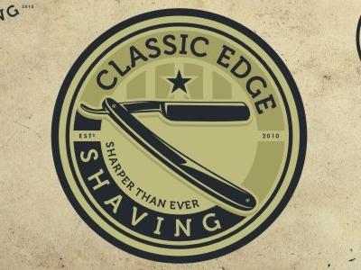 Classic Edge logo design emblem