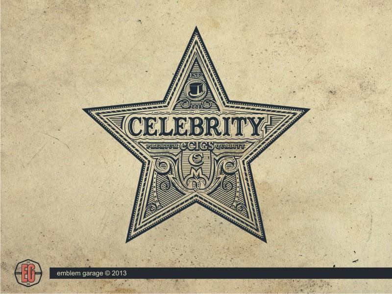 Celebrity Ecigs emblem design logo design illustration