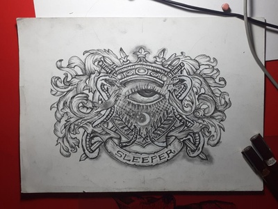 tattoo sleeper vintage emblem design tattoo design hand drawn old school illustration