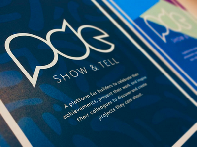 PDE Show & Tell Poster graphic design logo poster