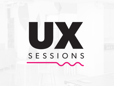 UX Sessions identity branding logo