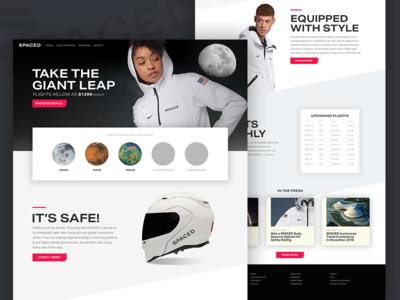 SPACEDchallenge layout website web ui design spacedchallenge
