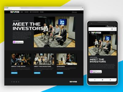 The Pitch Microsite responsive website visual design ux ui