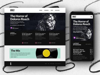 Gimlet Brand Update website design user interface visual design