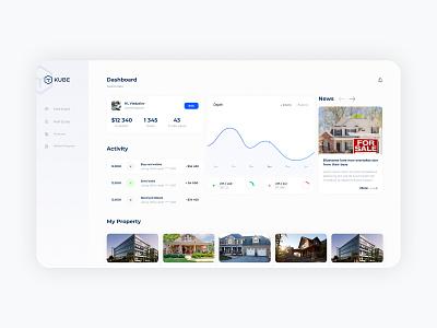 KUBE Dashboard cryptocurrency real estate dashboard ui dashboad ui ux app web design