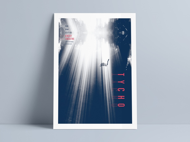 Tycho pattern poster photography typography water free dive dive gig poster gig poster calm tycho