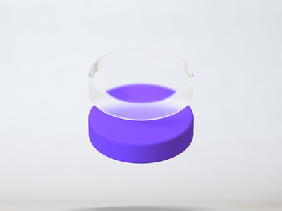 Glass abstract symbol composition cinema4d