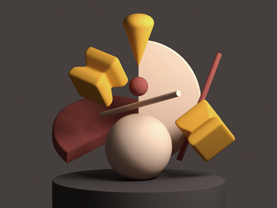 Simple Objects Composition model render cinema4d