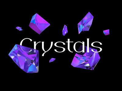 Crystals design letter 3drender render c4d cinema4d gem crystals crystal