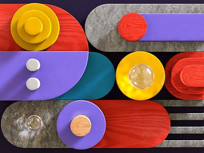 Asana blog pattern 3D style render cinema4d pattern blog asana