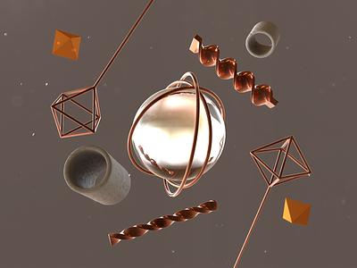 Simple Chaos art cinema4d render simple