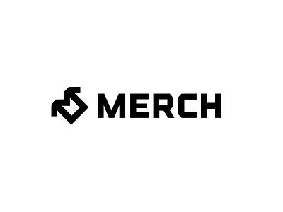 MERCH logo concpet bold symbol shirt simple eshop store merchandising logo