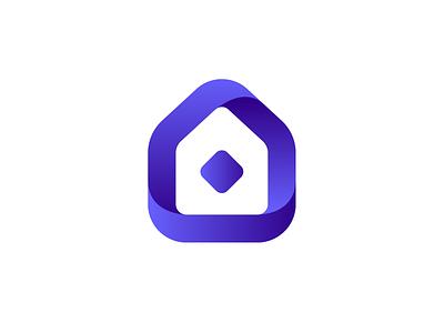House Symbol symetric grid logotype simple architecture bold logo symbol