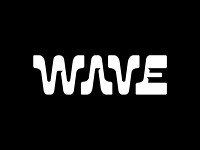Wave Logo logotype bold black and white ui typography geometry letter logo water symbol wave