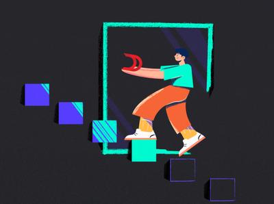 business illustration branding ui app vector design illustration