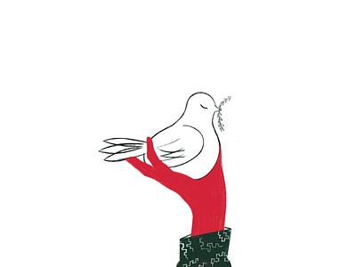 Peace bird webillustration drawing ui animalsketch illustration art sketch art vector design illustration