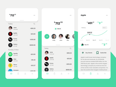 Stocks and banking app stocks invest investment banking app application ui