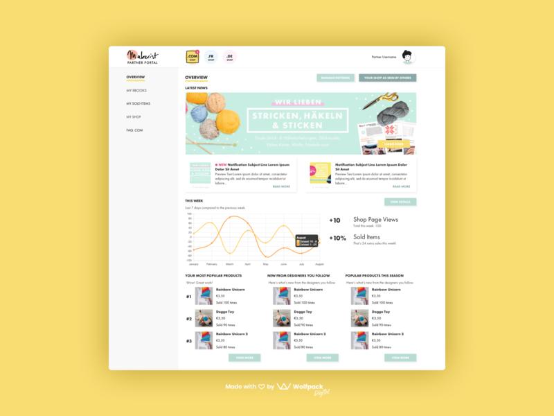 Makerist - Crafting Web Platform web ux flat dashboard ui web app design web ux crafting