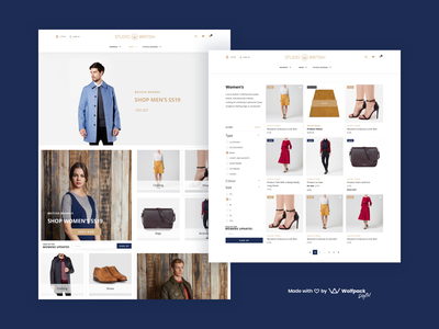 Studio British - Fashion App Design ui design ux design ecommerce app clothing web ui ux fashion app web design
