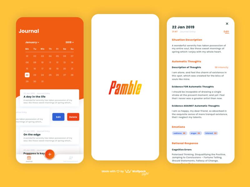 Pamble - Healthtech App for Gambling Addiction flat mobile app design healthcare mobile ux mobile ui gambling healththech