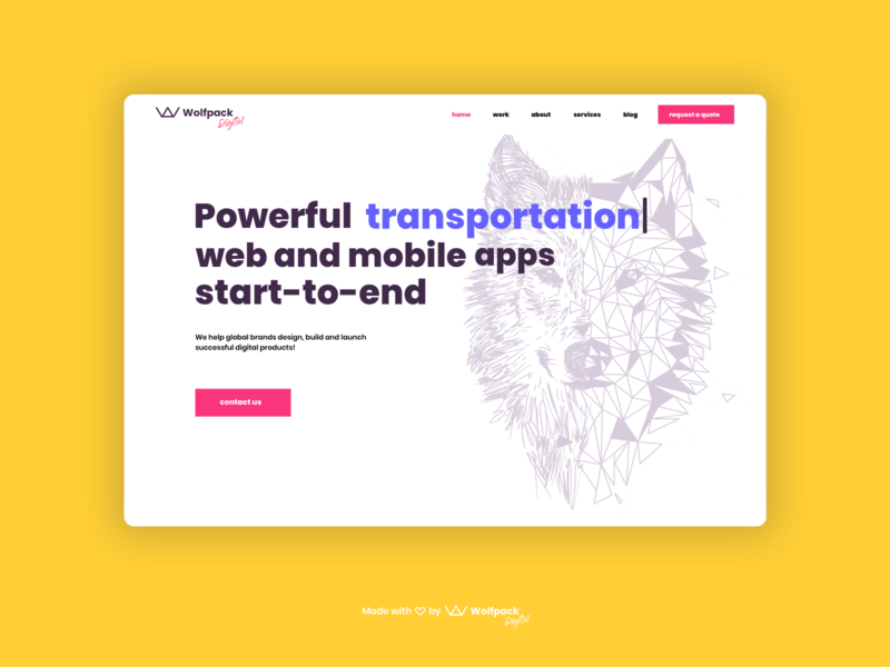 Wolfpack Digital Website Redesign uxui agency branding website redesign ux landingpage agency